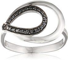 Orphelia 925 argento rodiato dreambase-anello zirconi nero brillante (17,2) - taglia 54 ZR-7092/2/54