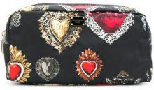 Dolce & Gabbana - Trousse con stampa Sacro Cuore - women - Polyamide - One Size - Nero
