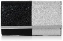 Swankyswans Sam Glitter Color Block - Pochette da giorno Donna, Argento (Black Silver), 6.5x13.2x22.4 cm (W x H x L)