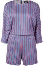 Vanessa Seward - striped playsuit - women - Cotton - 40, 36 - BLUE