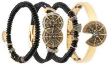 - Camila Klein - four bracelets set - women - metal - Taglia Unica - Nero