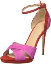 Guess Footwear Dress Sandal, Scarpe Col Tacco con Plateau Donna, Rosa, 39 EU