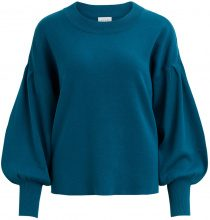VILA Loose Fit Knitted Top Women Blue