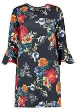 Lisa Ruffle Sleeve Floral Shift Dress