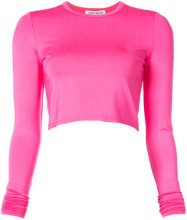 Elizabeth And James - cropped long sleeve top - women - Rayon/Spandex/Elastane - XS, S - PINK & PURPLE