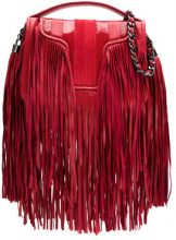 Andrea Bogosian - leather fringed shoulder bag - women - Leather - OS - Rosso