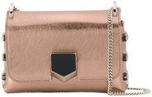 Jimmy Choo - Borsa a spalla Lockett Mini - women - Leather - One Size - PINK & PURPLE