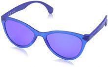 Police SPL086, Occhiali da Sole Donna, Blue (Semi Matt Transp.Blue), Taglia unica