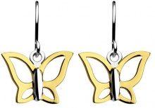 Touch Jewellery Dew - Orecchini pendenti in argento sterling, motivo farfalle, argento, colore: oro