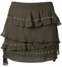 - Iro - Shelan skirt - women - cotone/fibra sintetica - 40 - di colore verde