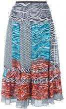 Dvf Diane Von Furstenberg - 'New Wave' pattern skirt - women - Silk/Polyester - L, S - MULTICOLOUR