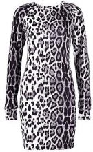 Mia Tonal Leopard Brush Knit Bodycon Dress