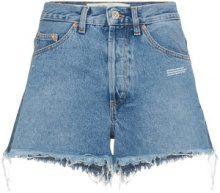 Off-White - Shorts denim a vita alta - women - Cotton/Polyester - 29, 27, 26, 28, 30, 31 - BLUE