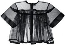 Comme Des Garçons Noir Kei Ninomiya - Top svasato - women - Polyester/Artificial Leather - S - BLACK