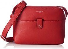 LE TANNEUR Violette Two1111 - Borse a tracolla Donna, Rosso (Rouge), 8x18x24 cm (W x H L)