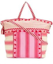 Dodo Bar Or - Lydia beach bag - women - Cotone - One Size - PINK & PURPLE
