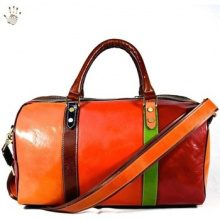 Borsa da viaggio Dream Leather Bags Made In Italy  Borsa Viaggio In Pelle Colore Multicolor - Pelletteria Toscana M