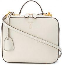 Mark Cross - Borsa a spalla 'Laura' - women - Leather - One Size - WHITE