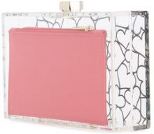 Love Moschino - Clutch con cuori - women - Acrylic - OS - WHITE
