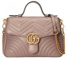 Gucci - Borsa piccola 'GG Marmont' - women - Leather/metal/Microfibre - One Size - PINK & PURPLE