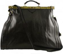 Borsa Shopping Dream Leather Bags Made In Italy  Borsa Da Viaggio In Vera Pelle Chiusura In Metallo Colore Nero -