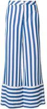 Love Moschino - Pantaloni a palazzo - women - Polyester/Viscose/Aluminium - 40, 42, 44 - BLUE