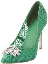 Guess Footwear Dress Sandal, Scarpe Col Tacco Punta Chiusa Donna, Verde (Medium Green), 38 EU
