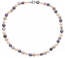 Pearls & Colors PC-CB27 Collana girocollo di perle d'acqua dolce, con chiusura in acciaio inossidabile, lunghezza 35 cm