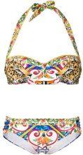 Dolce & Gabbana - printed halterneck bikini - women - Polyamide/Spandex/Elastane - IV - MULTICOLOUR
