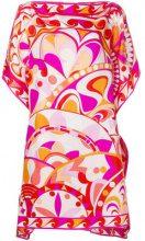 Emilio Pucci - Vestito con stampa a fiori - women - Silk - 42, 38, 40 - PINK & PURPLE