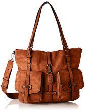 Tamaris Bernadette Shopping Bag - Borse a secchiello Donna, Braun (Cognac), 12x30x36 cm (B x H T)