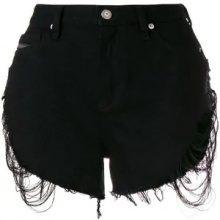 Diesel - Shorts in denim - women - Leather/Cotton - 25, 26, 27, 28, 29, 30 - BLACK