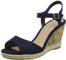 New Look Wide Foot Petal, Sandali a Punta Aperta Donna, Blu (Navy 41), 39 EU