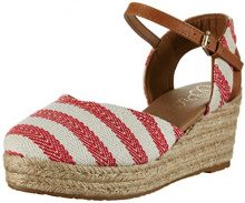 Wrangler WranglerBella Stripes - Sandali Donna, Rosso (Rot (Red/Off White)), 37 EU