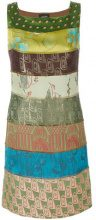 Jean Paul Gaultier Vintage - Vestito a righe - women - Rayon/Triacetate/Polyester/Cotton - 40 - GREEN