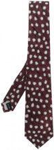 Issey Miyake - Cravatta con motivo stampato - men - Silk - OS - PINK & PURPLE