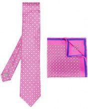 Canali - Set con cravatta e pochette da taschino - men - Silk - OS - PINK & PURPLE