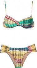 Lygia & Nanny - printed bikini set - women - Polyamide/Spandex/Elastane - 42, 44, 46, 50 - Giallo & arancio