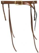 Dorothee Schumacher - skinny tassel belt - women - Leather - 75, 90, 70, 80 - BROWN
