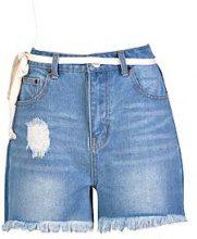 Hatty pantaloncini di jeans mom a vita alta