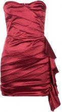 Christian Pellizzari - Miniabito drappeggiato - women - Polyamide/Polyester/Spandex/Elastane - 42 - RED