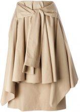 Aalto - tie front skirt - women - Cotton/Acetate/Polyethylene - 36 - NUDE & NEUTRALS