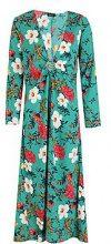 Top a kimono con dettaglio anello e floreali Harri