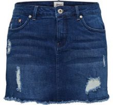 ONLY Destroyed Denim Skirt Women Blue