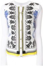 Versace Collection - Cardigan con stampa - women - Silk/Cotton - 44 - WHITE