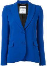 Moschino - peaked lapel blazer - women - Polyester/Rayon/Triacetate - 44, 42, 46 - BLUE