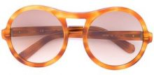 Chloé Eyewear - Occhiali da sole 'Marlow' - women - Acetate - One Size - BROWN