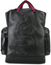 Gucci - kingsnake embroidered backpack - women - Calf Leather/Nylon - OS - BLACK