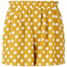 Y.A.S Dotted Elastic Shorts Women Yellow