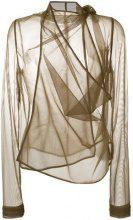 Rick Owens Lilies - sheer blouse - women - Polyamide/Spandex/Elastane - 42 - BROWN